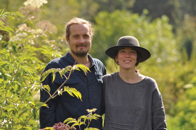 Jed Wiebe and Louise Lecouffe